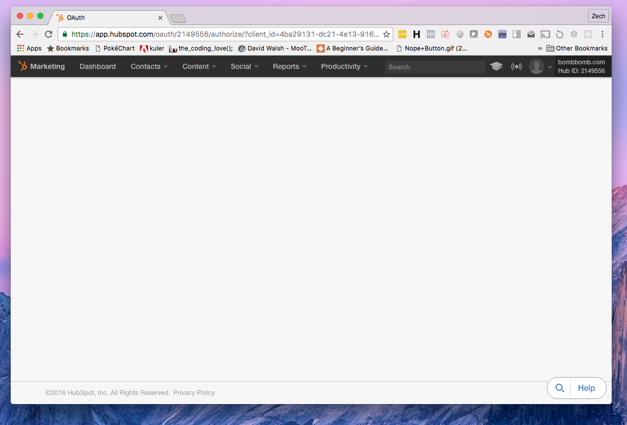Solved: HubSpot Community - OAuth 2 0 Endpoint Shows Blank Page