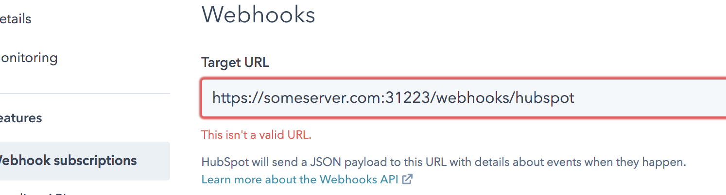 Solved: HubSpot Community - Webhook Subscriptions Target Url
