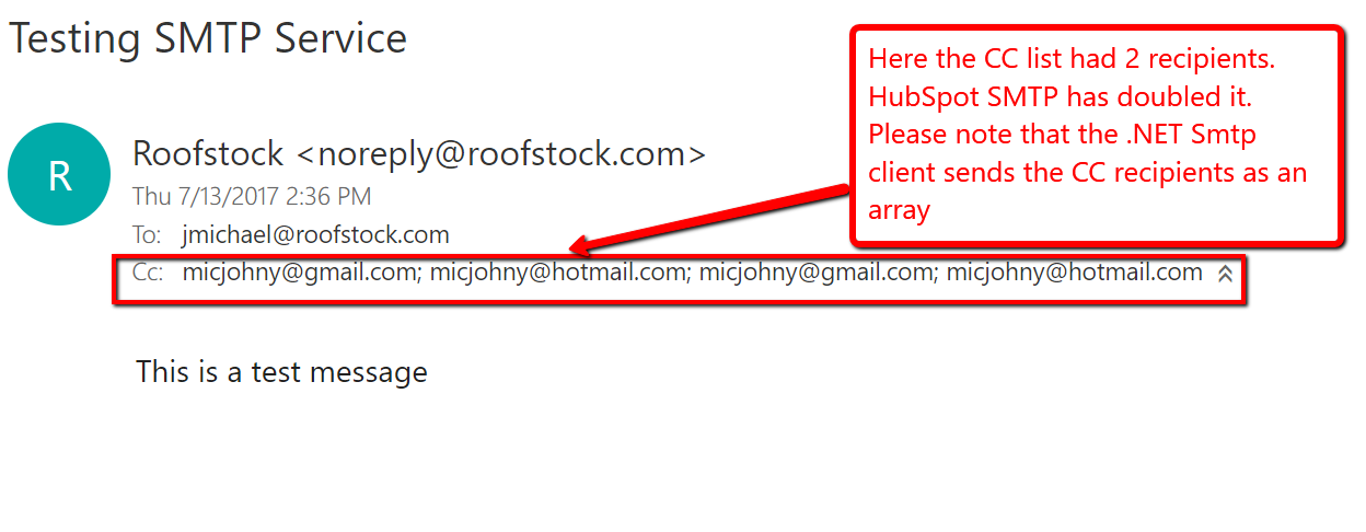 HubSpot Community - Send email to multiple recipients from SMTP API