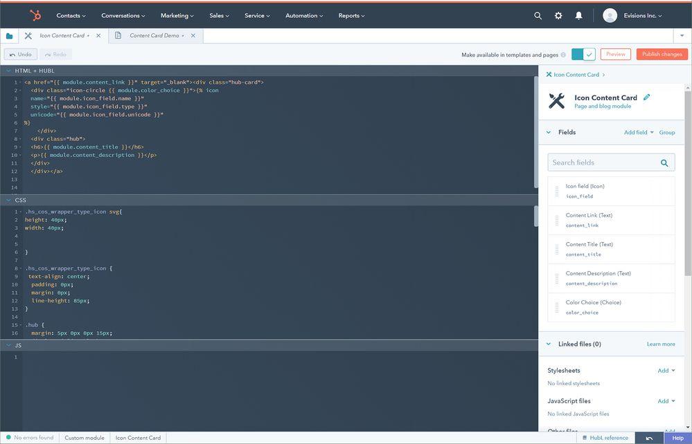 Module Creation Screen