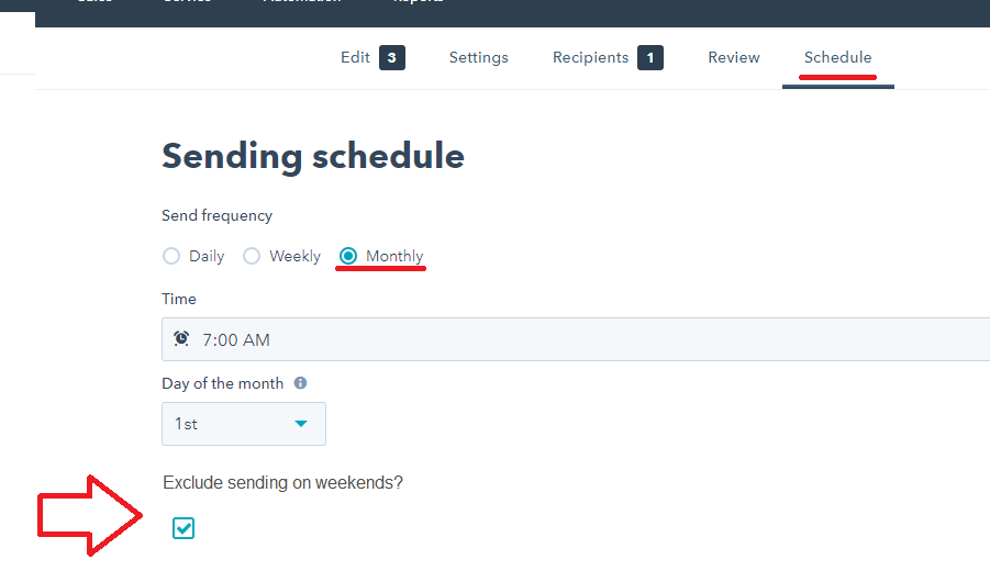 exclude sending blog rss monthly email on weekends.png