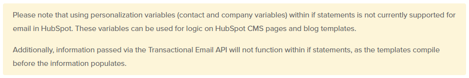 HubL Reference - If statements