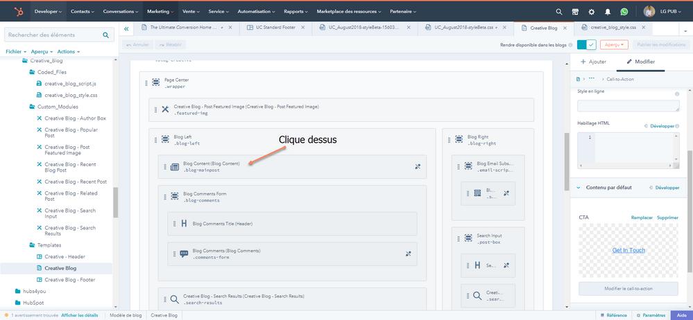 Se module te sert à afficher le listing du blog (PH) et l'affichage d'un article