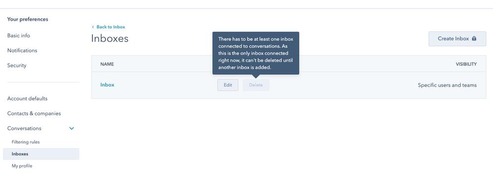 Conversations > Inbox screen