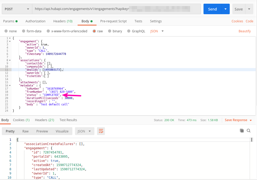Hubspot API Add Call Engagement - Call Disposition Completed.png
