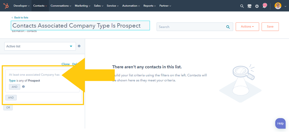 Contact List Example