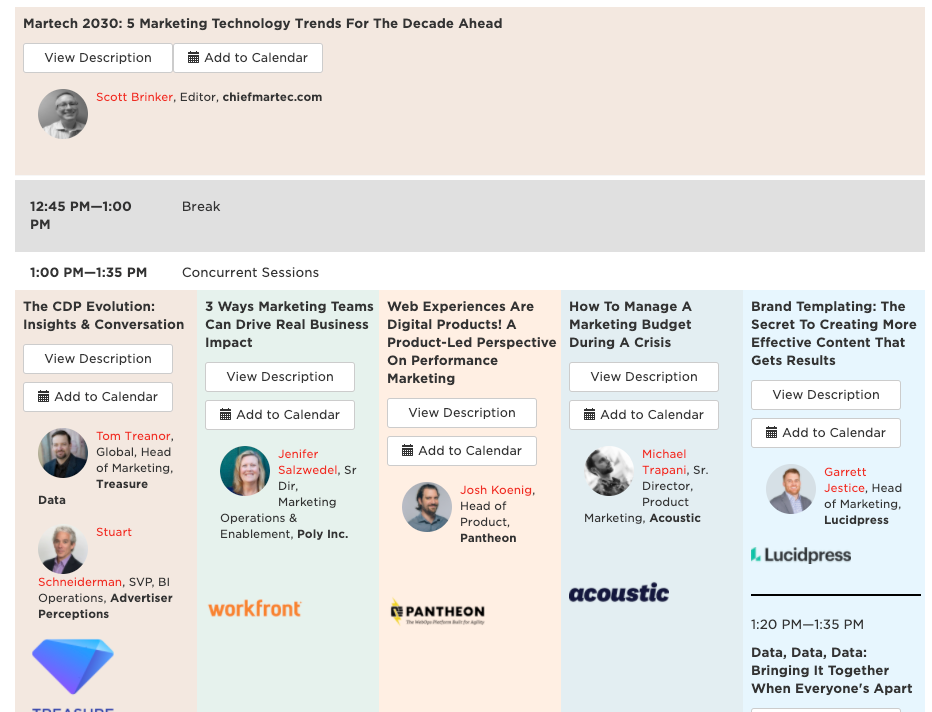 MarTech: A Virtual Event For Strategies & Solutions 2020