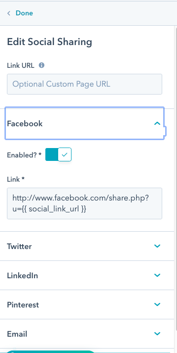 Social share module in old email