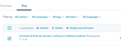 Eliminar blog post en borrador_Andimol_Hubspot
