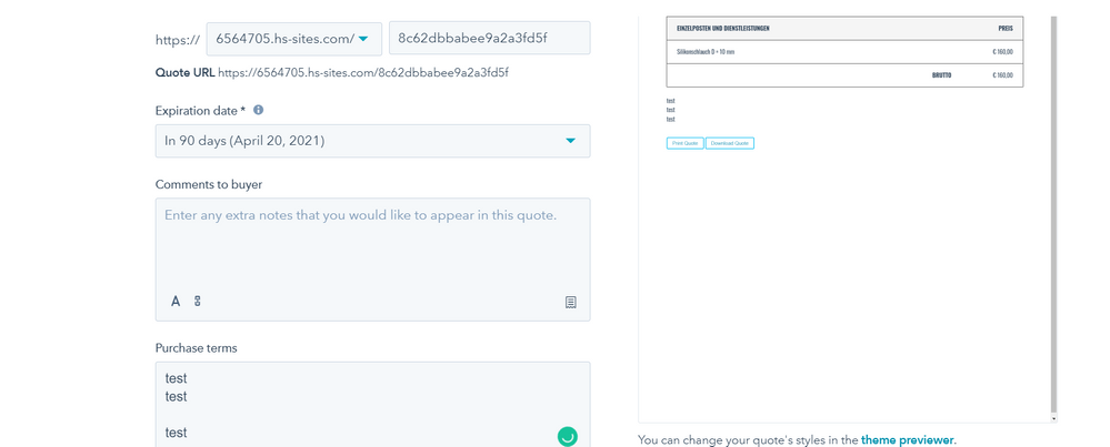 Screenshot (left side you can see the space but in the right side in preview can't able to see the space)