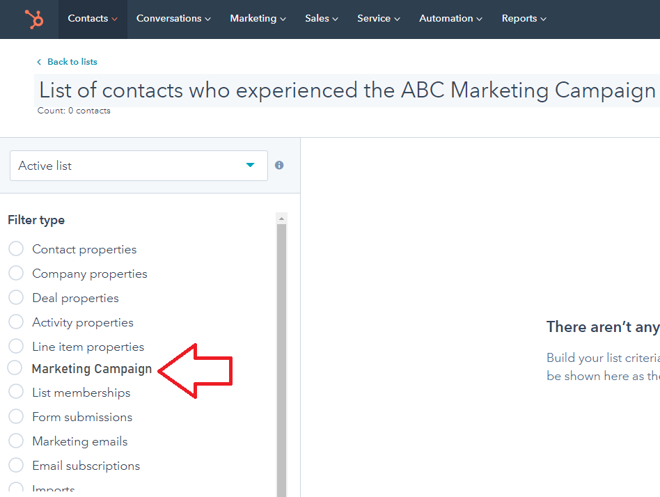 new list filter to select Marketing Campaign.png
