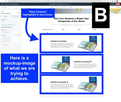 B) In this mockup image I show what we need - the Row Content stacked below and left to right image.jpg
