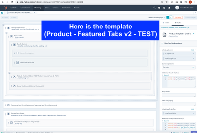 Here is the template (Product - Featured Tabs v2 - TEST).png