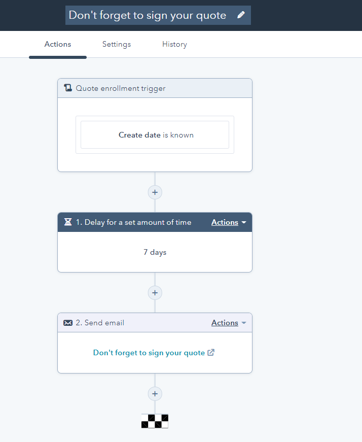 Create quote-based workflow