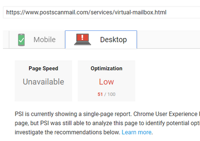 Services page speed.PNG