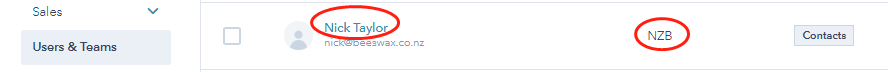 hubspot team issue Nick Taylor is in NZB team.png