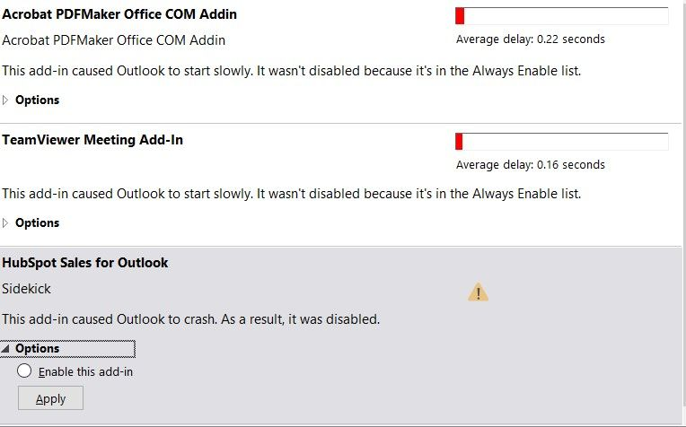 HubSpot Community - Issues using Outlook Add-in - HubSpot