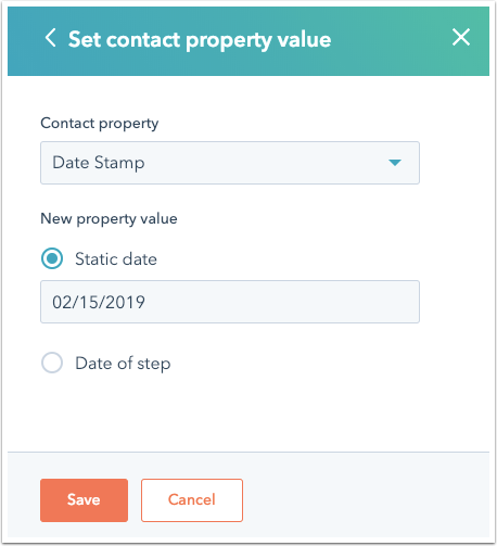 HubSpot Workflow - Set Contact Property Value