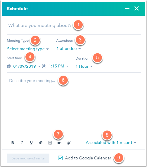 Source: Schedule a meeting with a contact in a record