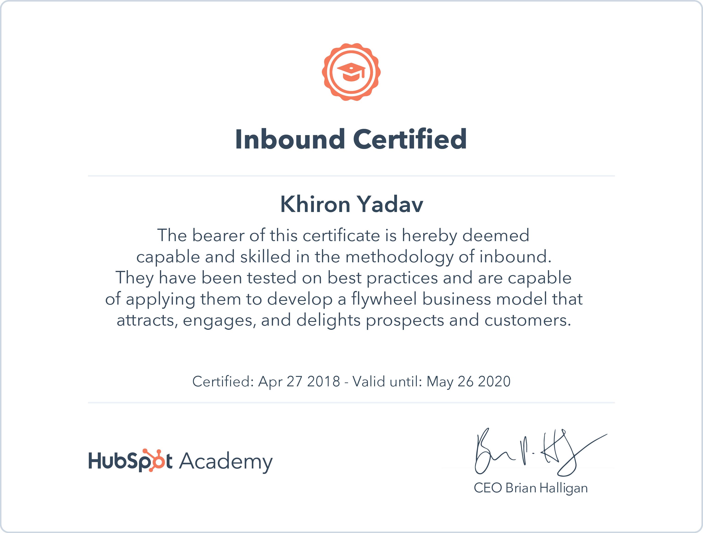 Solved Hubspot Community Add Inbound Certification To