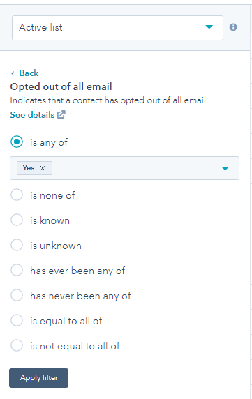 Smart list - opted out of all email.PNG