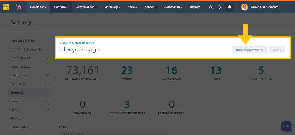 mfjlabs-screenshot-Lifecycle-Stage-History-Export-Button.png