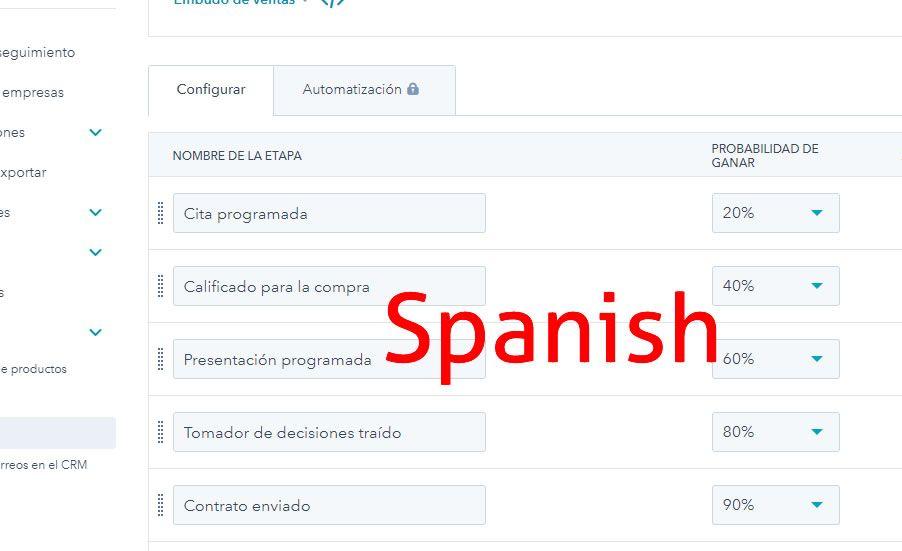 Default names in Spanish