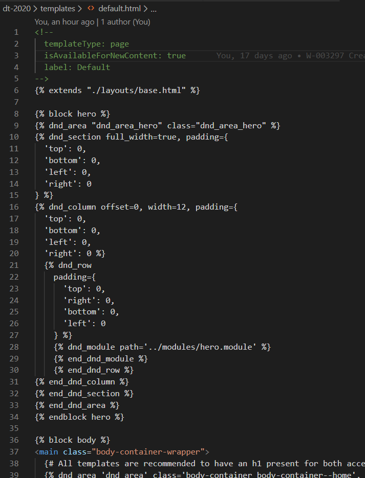 Template: default.html
