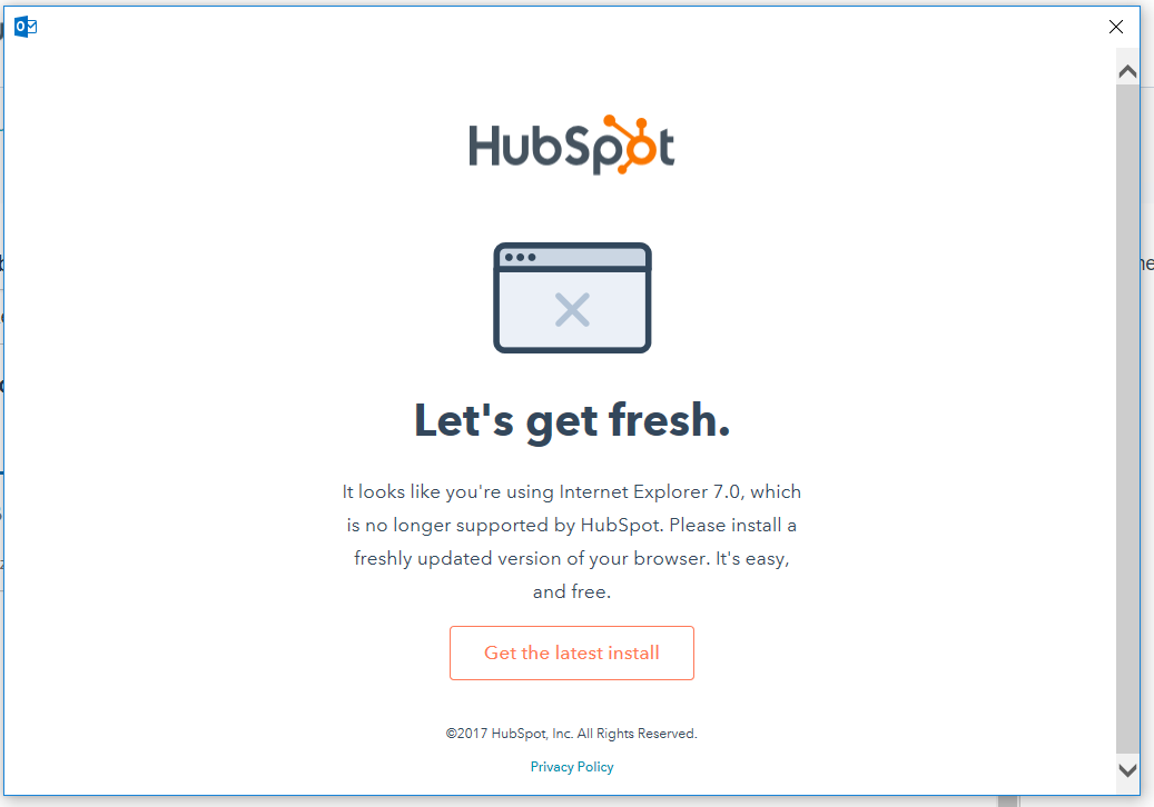 HubSpot Community - Templates says I am using old version of