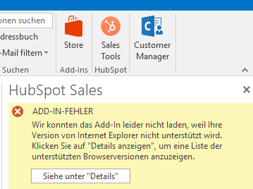 how to install hubspot outlook add in