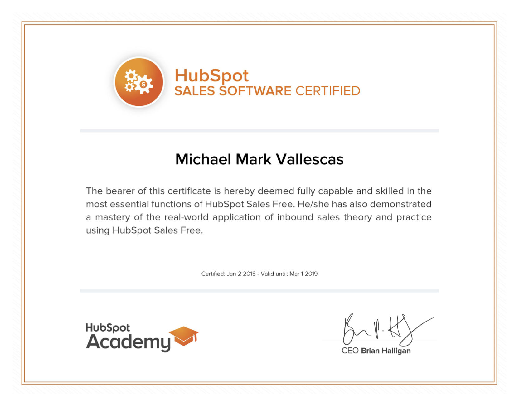 Solved: HubSpot Community - Download printable certificate for Sales ...