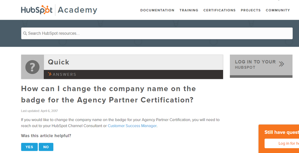 Hubspot Community How To Change Company Name Hubspot Community
