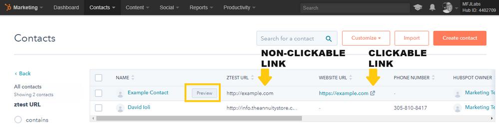 hubspot-field-filter-clickable-non-clickable-url.png